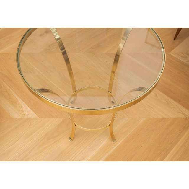 Polished Brass Occasional Table For Sale - Image 5 of 7
