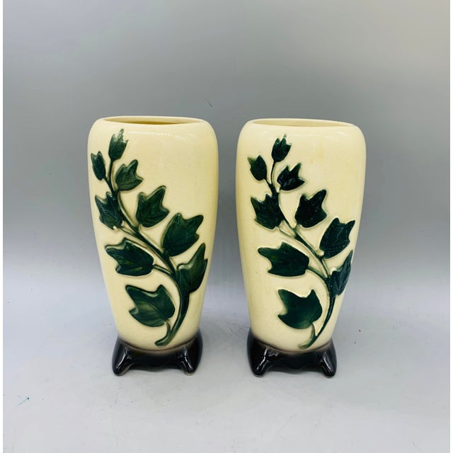 1950's Vintage Royal Copley Ivy Vases - a Pair For Sale - Image 11 of 11