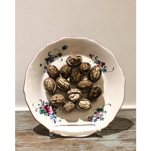 Cottage Trompe l'Oeil Walnut Plate, France For Sale - Image 3 of 7