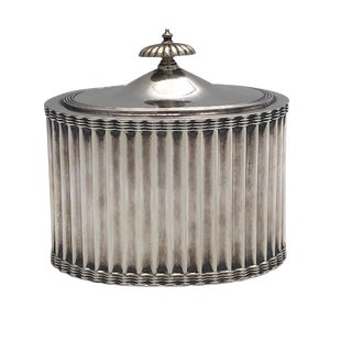 Early 20th Century Antique Frank Smith Sterling Box / Tea Caddy For Sale