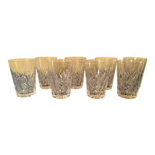 Vintage Crystal Water Glass- Set of 8 For Sale