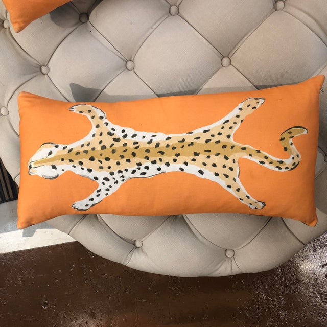 Blue Leopard Lumbar Pillow by Dana Gibson For Sale - Image 8 of 13
