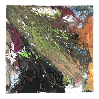Late 20th Century Abstract Colorful Painting on Canvas by Unknown Artist