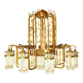 Art Deco Waterfall Chandelier For Sale