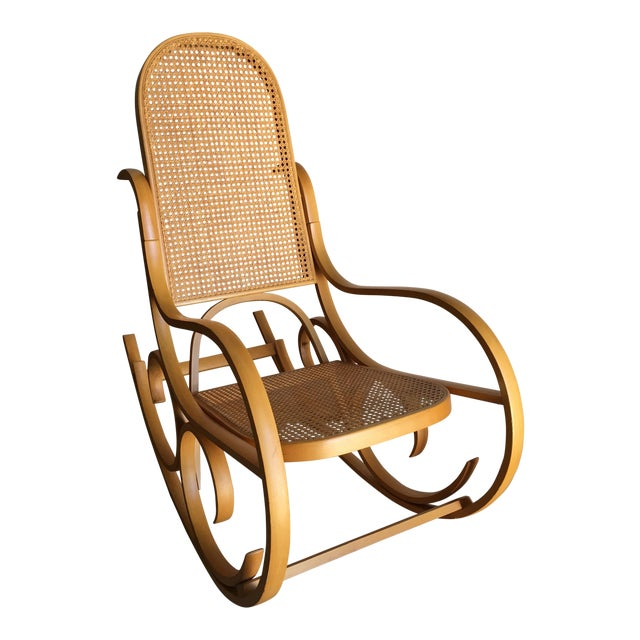 Vintage Luigi Crassevig Bentwood Rocking Chair In The Style of Michael  Thonet For Sale - Vintage Luigi Crassevig Bentwood Rocking Chair In The Style Of