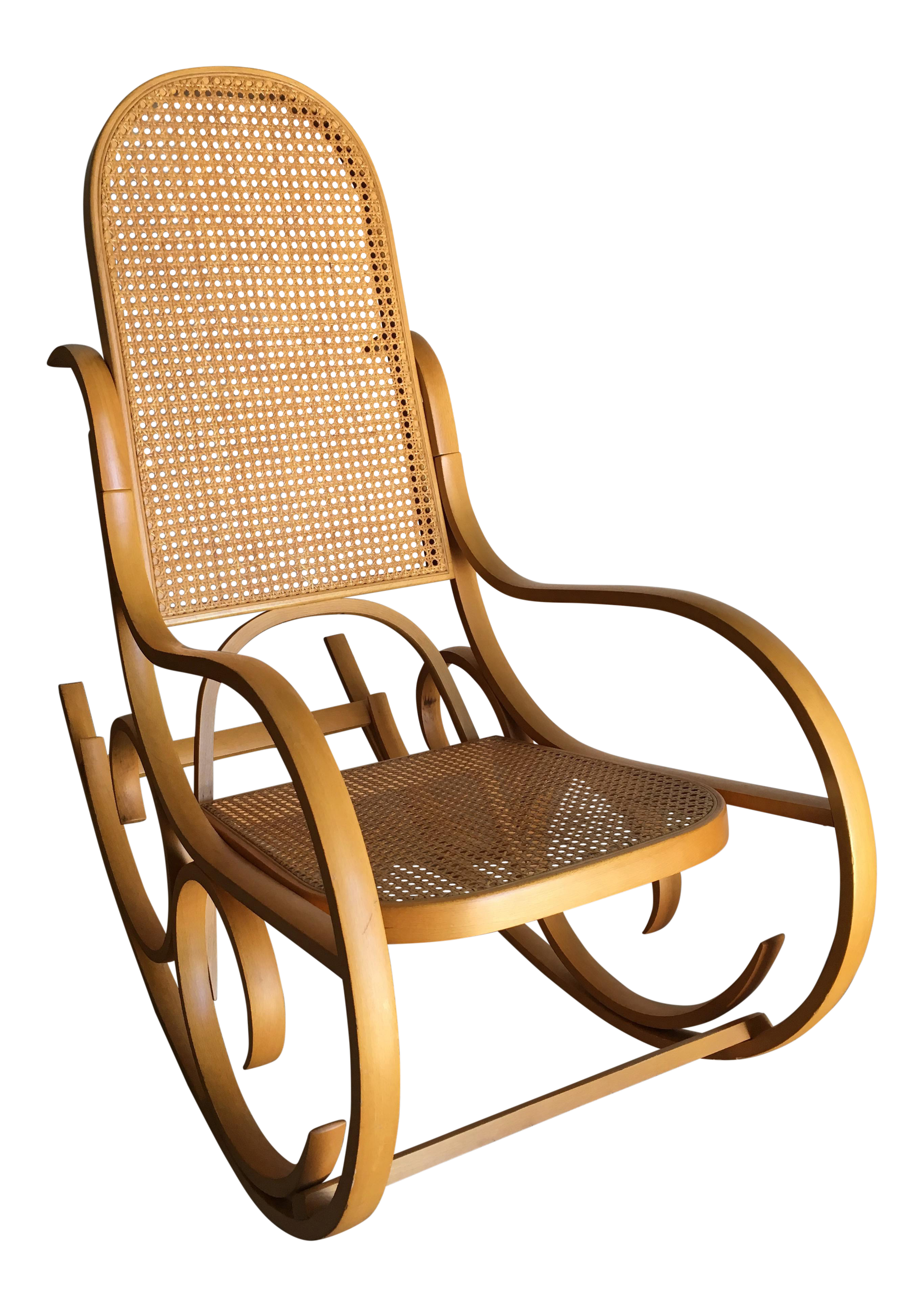 Vintage Luigi Crassevig Bentwood Rocking Chair In The Style Of Michael  Thonet For Sale
