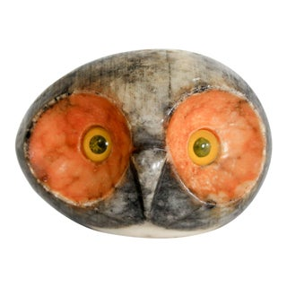 Italian Alabaster Owl Paper Weight