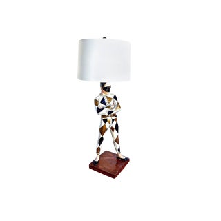 Mid Century Modern Harlequin Lamp in the Manner of Marbro Lamp Company
