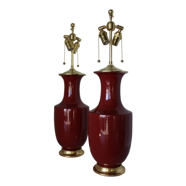 Christopher Spitzmiller Ming Lamps - a Pair For Sale