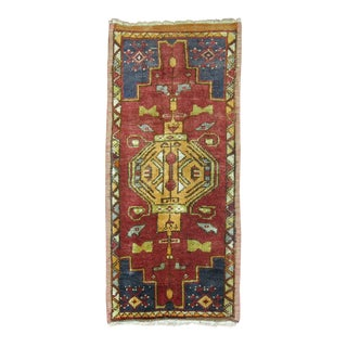 Vintage Turkish Rug, 1'7'' X 3'5'' For Sale