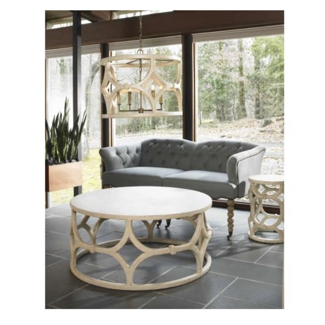 Mr. Brown Antique White Wolfgang Coffee Table - Image 3 of 3
