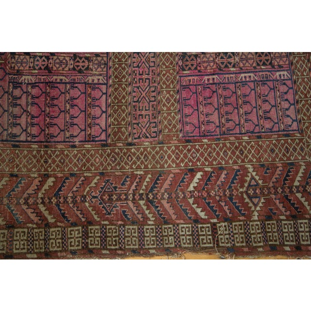 "Textile Antique Turkmen Square Rug - 4'5"" x 4'11"" For Sale - Image 7 of 10"
