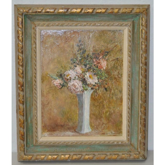 Troy Ruddick Vintage Floral Still Life Painting, C.1965 - Image 5 of 7