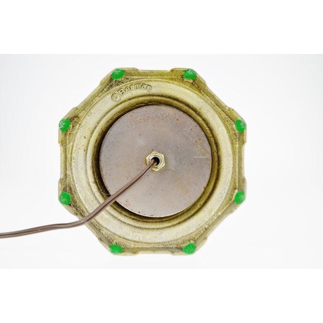 Vintage Berman Brass Table Lamp For Sale - Image 5 of 7