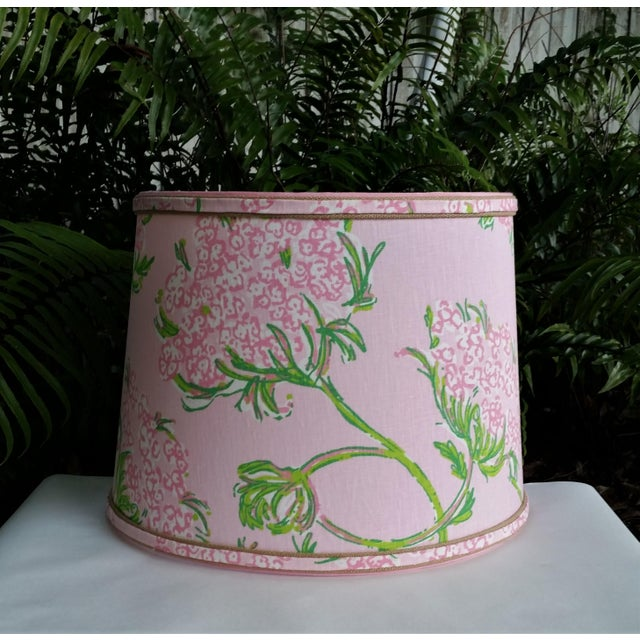 Not Yet Made - Made To Order Large Lampshade Lilly Pulitzer Fabric Floral Pink For Sale - Image 5 of 11