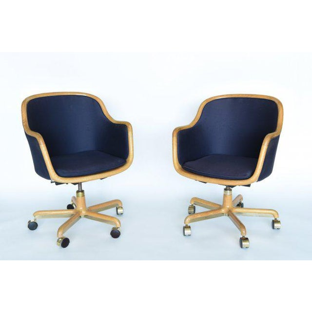 1970's Pair of Desk Chairs by Ward Bennett for Brickel Associates For Sale - Image 11 of 11