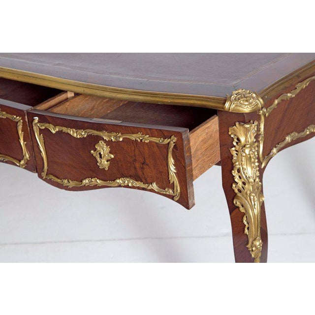 Late 19th Century Louis XV Style Rosewood and Ormolu Bureau Plat For Sale - Image 4 of 13