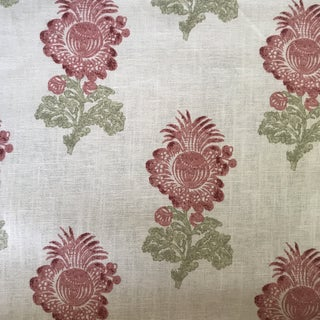 Thibaut Aldith Linen Blend Fabric- 7 1/2 Yards For Sale
