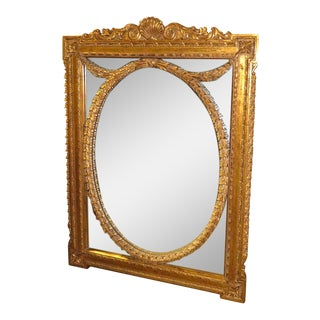 Adam's Style Gold Framed Wall Mirror For Sale