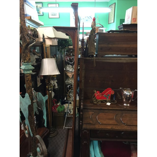 English Oak Hall Tree Coat Rack With Cane and Mirror For Sale In San Francisco - Image 6 of 7