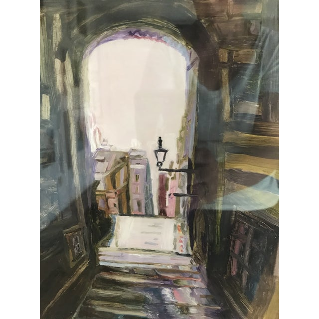 """""""Edinburgh"""" Contemporary Architectural Oil Painting, Framed For Sale - Image 6 of 7"""