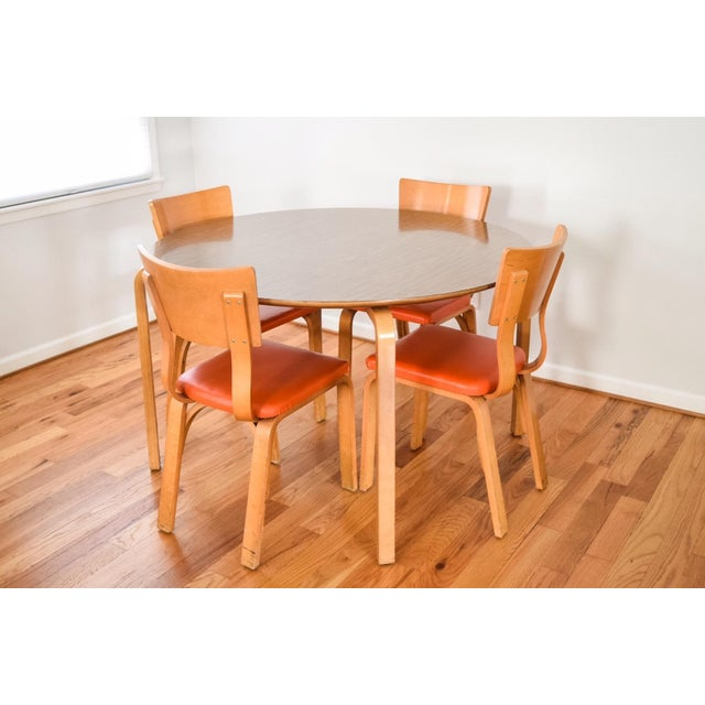 Mid-Century Thonet Bentwood Table & Chairs For Sale - Image 4 of 10
