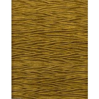 Koroseal Gold Pleated Koroka Velvet - 5.875 Yards For Sale