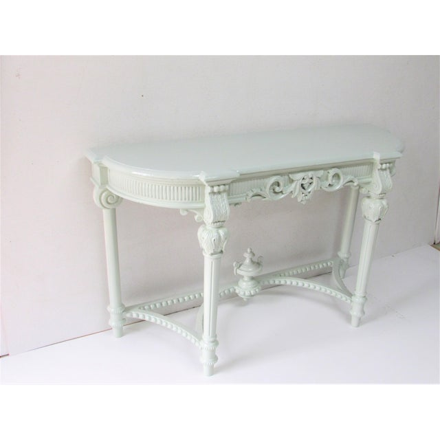 Louis XV French Louis XV Style Lacquered Console Table For Sale - Image 3 of 8