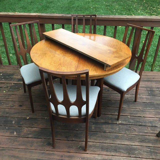 Broyhill Brasilia Dining Table with One Leaf For Sale - Image 10 of 11