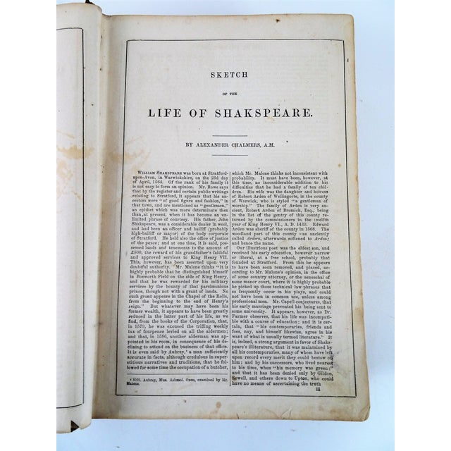 Antique Leather Bound Shakspeare Book For Sale - Image 4 of 10