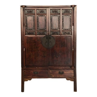 Antique Asian Wedding Cabinet For Sale