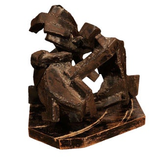1970's Brutalist Steel Sculpture For Sale