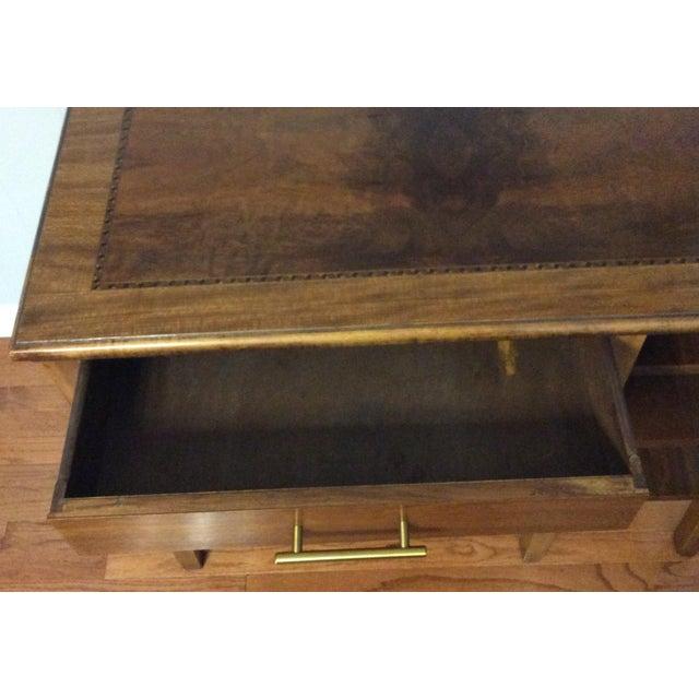 Wood Antique Burlwood Writing Desk For Image 7 Of 13