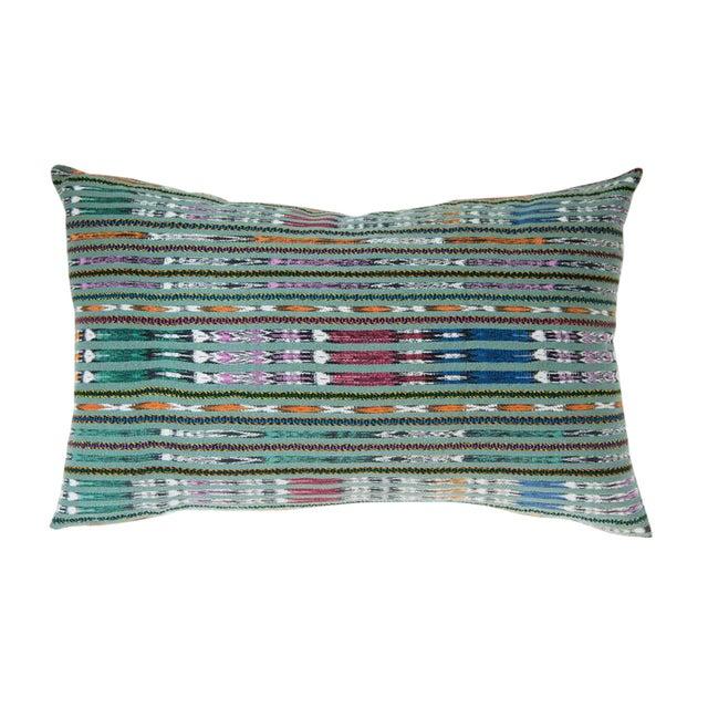 Vintage Guatemalan Green Ikat Pillow - Image 1 of 5