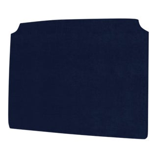 The Crown Headboard - King - Charles - Luxe Velvet, Prussian Blue For Sale