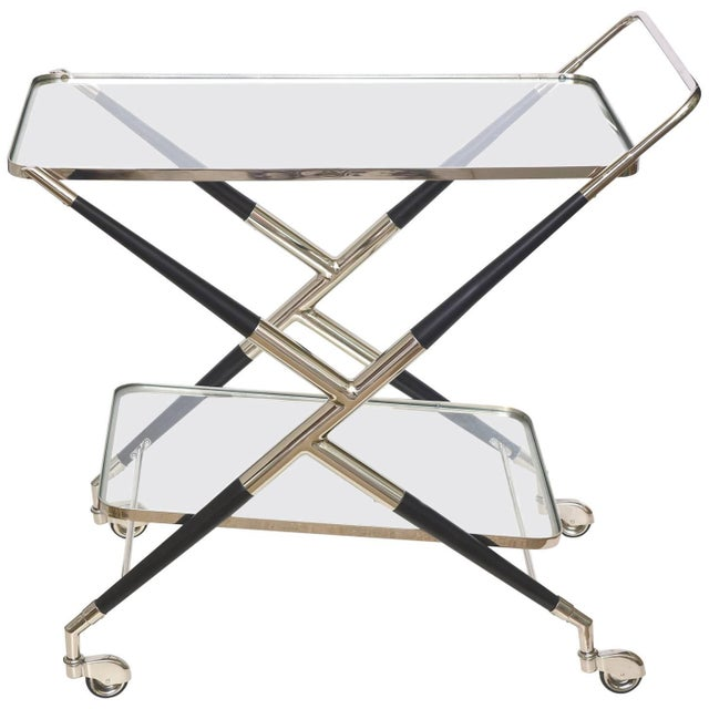 Italian Cesare Lacca Midcentury Bar Cart For Sale - Image 11 of 11
