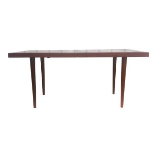 Mid-Century Expandable Teak Dining Table For Sale