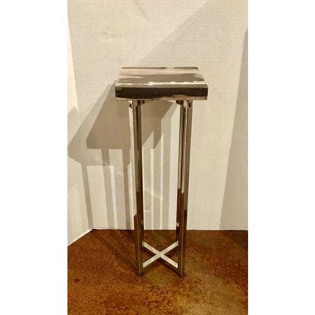 2010s Contemporary Interlude Home Argo Square Drinks Table For Sale - Image 5 of 5