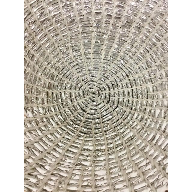 Modern Artisan Hand Woven Repurposed Plastic Basket For Sale - Image 4 of 11