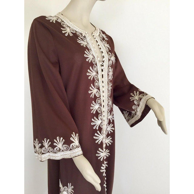Moroccan Caftan, Maxi Dress Kaftan, 1970 Size Small For Sale In Los Angeles - Image 6 of 13