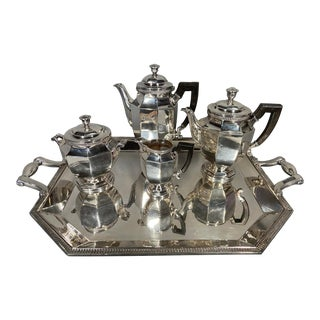 Antique 19th Century Christofle Silver-Plated Tea Set - Set of 5 For Sale