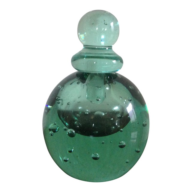 Green Glass Perfume Bottle For Sale
