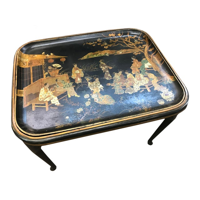 19th Century Chinoiserie Tea Table For Sale - Image 4 of 7
