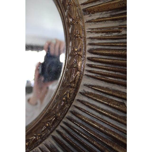 1960s Mid-Century Convex Sunburst Mirror For Sale - Image 5 of 7