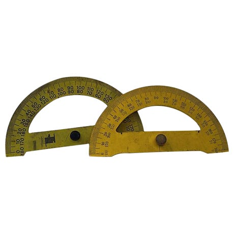 Vintage French Drafting Protractors - A Pair - Image 1 of 3