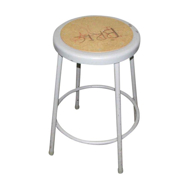 Metal Gray Stool For Sale