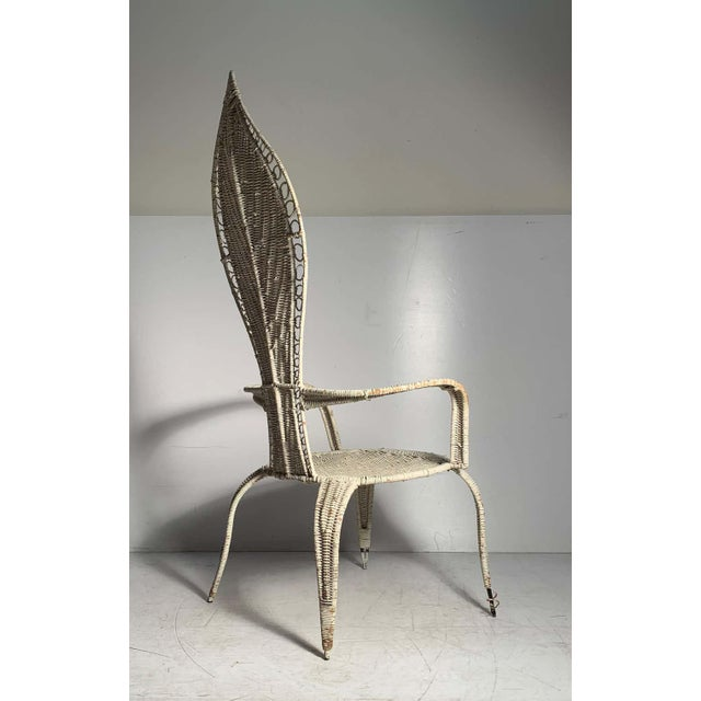 Wicker Tropi-Cal Danny Ho Fong and Miller Fong Mid-Century Modern Garden Patio Chair For Sale - Image 7 of 9