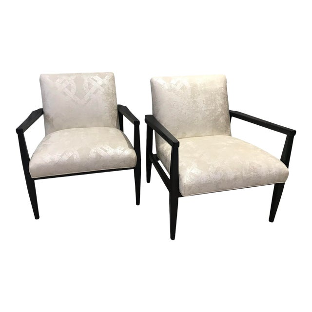 Mid-Century Style Chairs by Arhaus - a Pair For Sale
