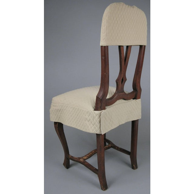 Wood 1970s Swedish Style Dining Chairs With Quilted Covers - Set of 8 For Sale - Image 7 of 8
