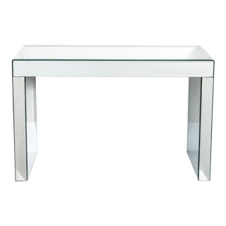 Vintage Beveled Mirrored Console Table For Sale
